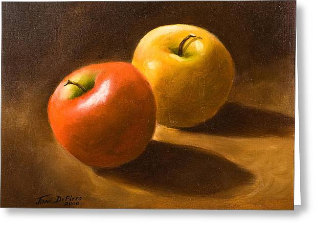 Two Apples Greeting Card by Joni Dipirro