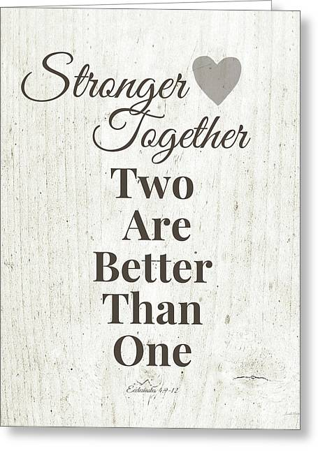Two Are Better Than One- Art By Linda Woods Greeting Card
