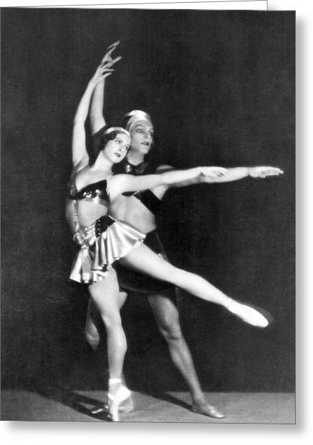 Two Ballet Dancers Greeting Card by Underwood Archives