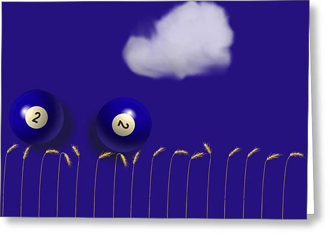 Blue Balls Greeting Card
