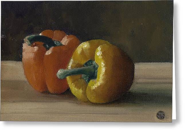 Two Bell Peppers Greeting Card
