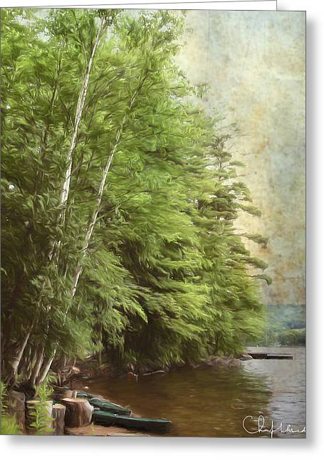 Two Birches Greeting Card