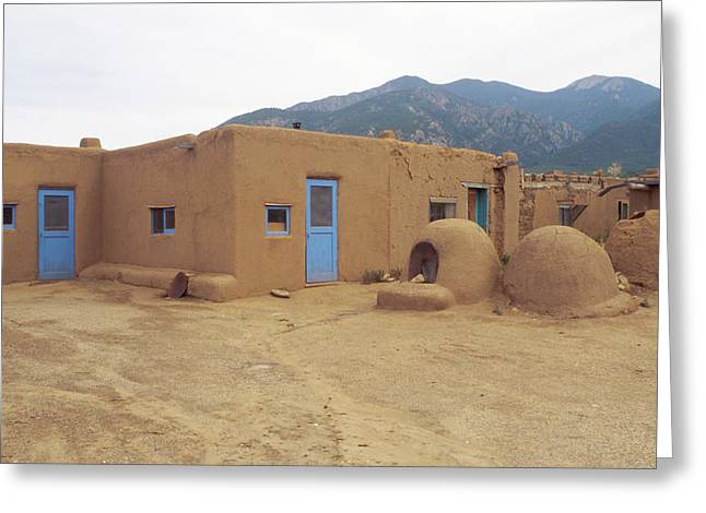 Two Blue Doors Greeting Card by Jerry McElroy