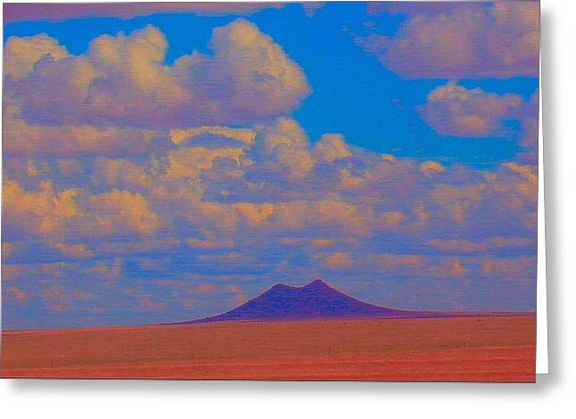 Two Butte Colorado Greeting Card by Robert Morrissey