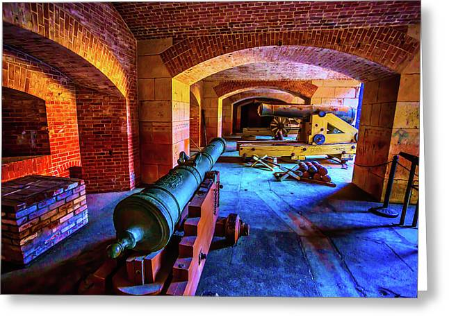 Two Cannons Greeting Card by Garry Gay