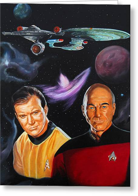 Two Captains Greeting Card