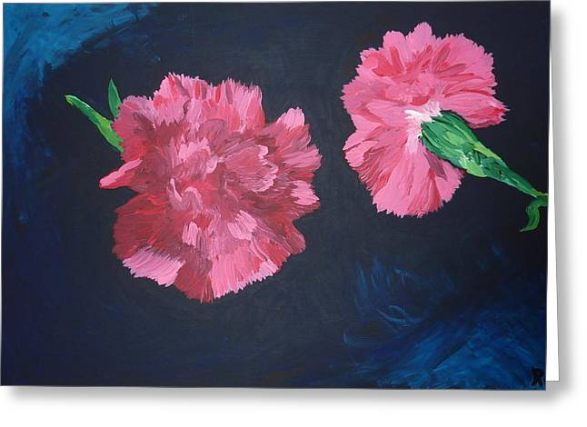 Two Carnations Greeting Card