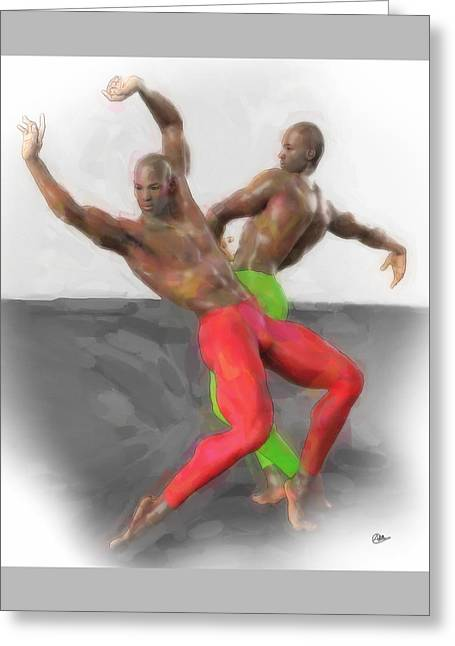 Two Classic Dancers Greeting Card by Quim Abella