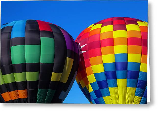 Two Colorful Balloons Greeting Card by Garry Gay