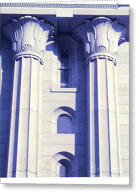 Two Columns Greeting Card