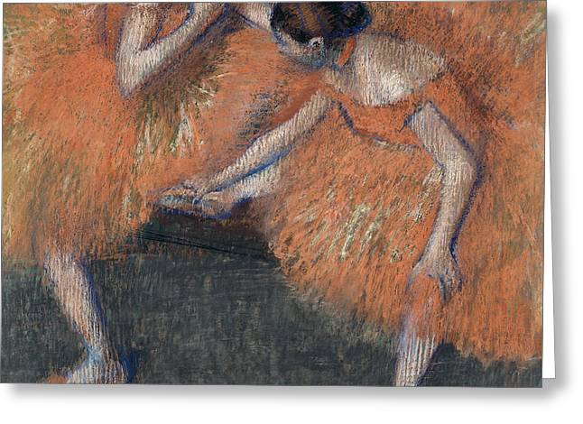 Two Dancers Around 1898 Greeting Card by Edgar Degas