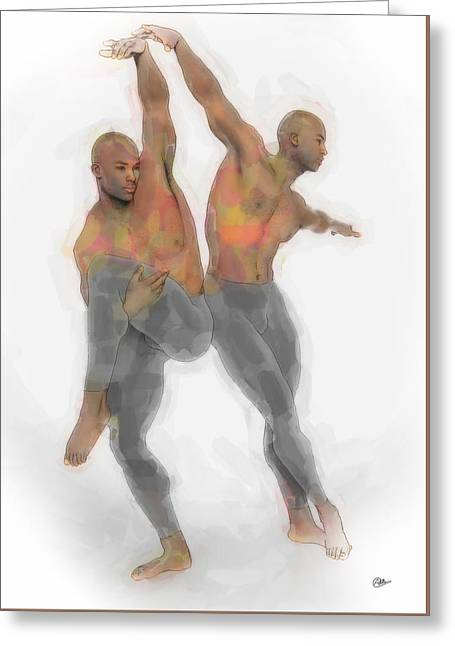 Two Dancers Greeting Card by Quim Abella