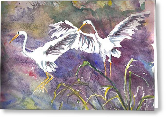 Two Egrets Greeting Card