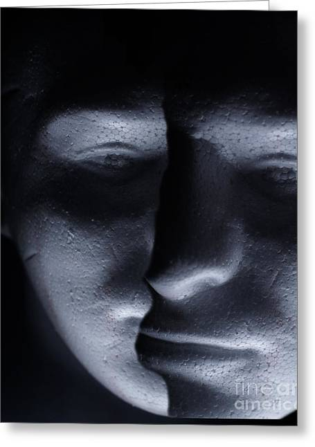 Two Faced Shadow Greeting Card