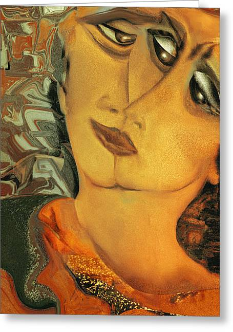 Two Faces Of The Madame Odette Greeting Card by Anne Weirich