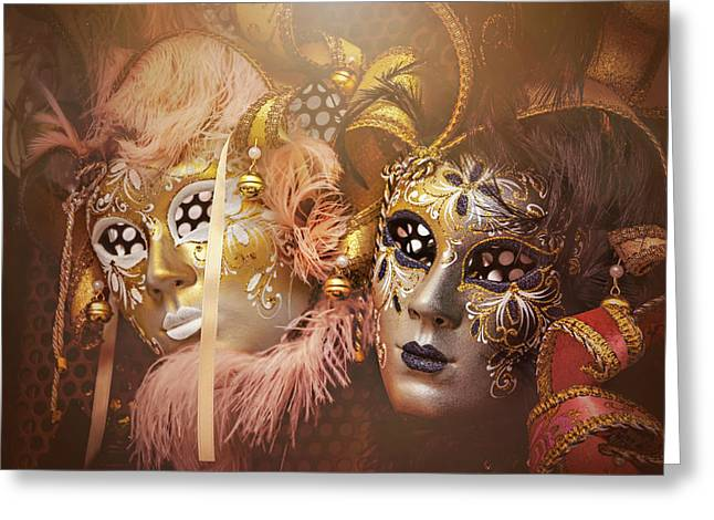 Two Faces Of Venice  Greeting Card by Carol Japp