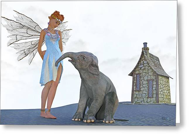 Two Friends Greeting Card by Betsy Knapp