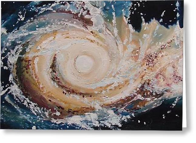 Two Galaxies Colliding Greeting Card
