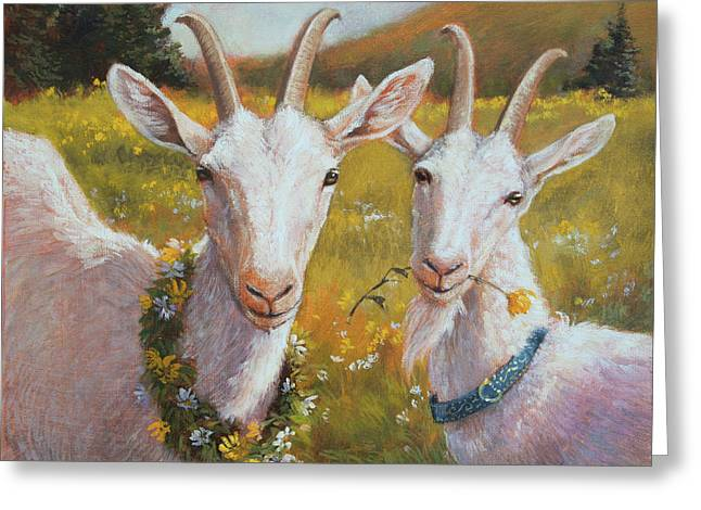 Two Goats Of Summer Greeting Card