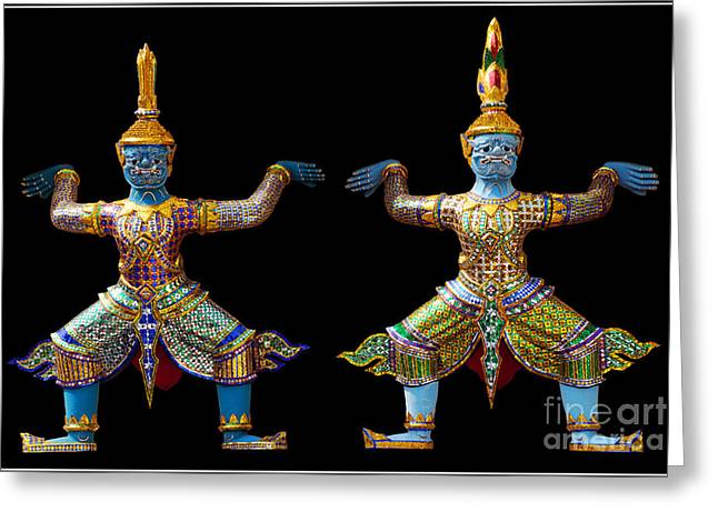 Two Gods Greeting Card by Ty Lee