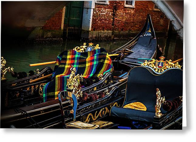 Greeting Card featuring the photograph Two Gondolas by Andrew Soundarajan