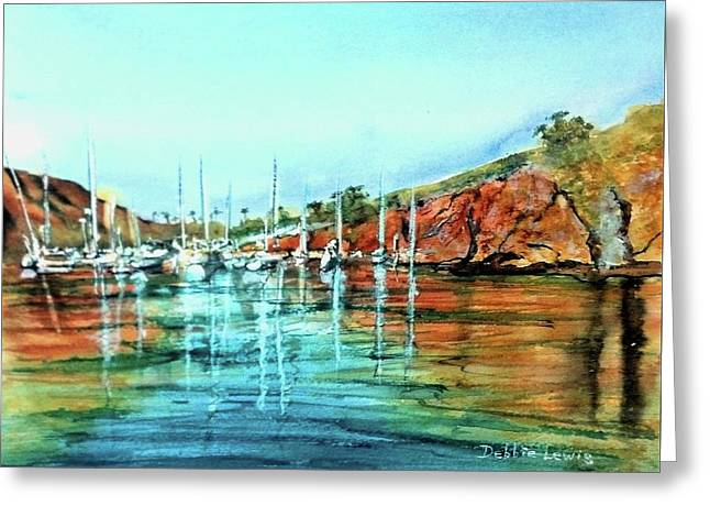 Two Harbors Catalina Morning Impressions Greeting Card
