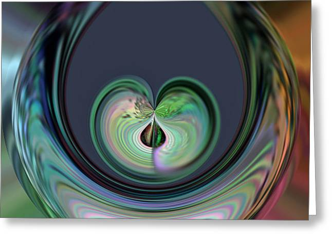 Two Hearts Beat As One Greeting Card by Rick Nickles