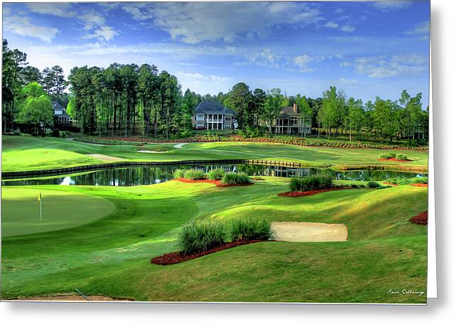 Two Holes In One The Landing Reynolds Plantation Art Greeting Card by Reid Callaway