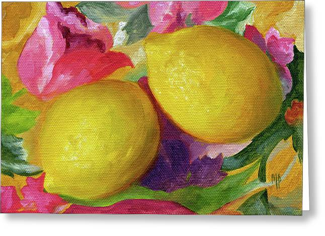 Two Lemons Greeting Card