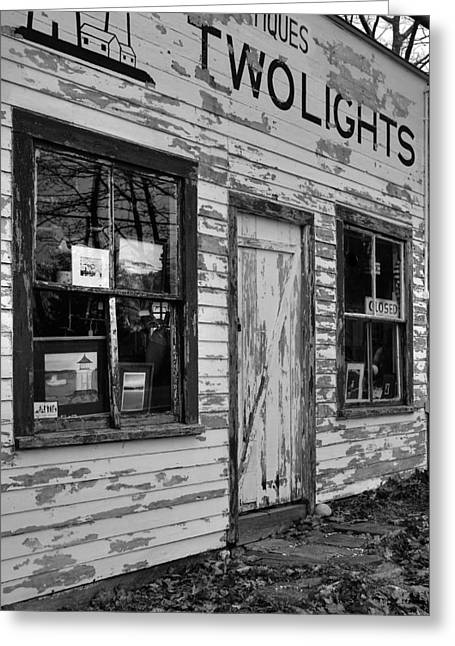 Two Lights Storefront Greeting Card