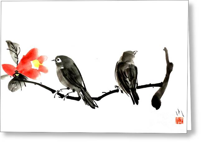 Two Little Birds Greeting Card
