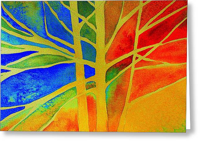 Red Photographs Paintings Greeting Cards - Two Lives Intertwined  Greeting Card by Julie Lueders