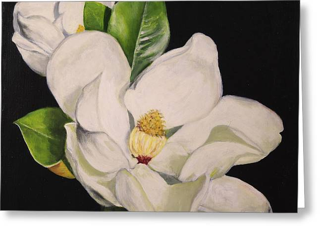 Two Magnolias Greeting Card