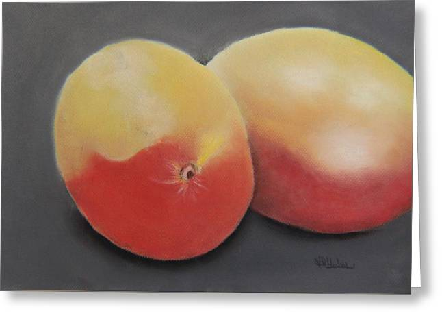 Two Mangoes Greeting Card by V P Holmes