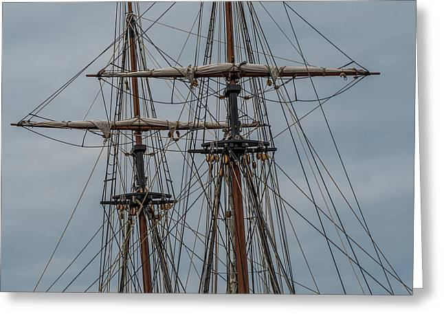 Two Masts Greeting Card