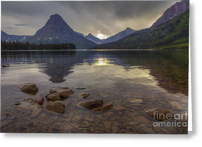 Two Medicine Lake And Sinopah Mountain Greeting Card