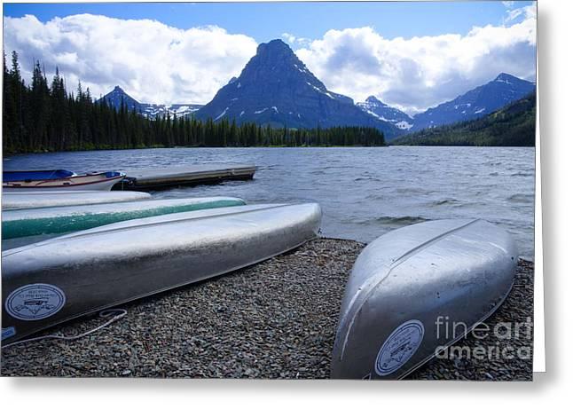 Two Medicine Lake Greeting Card by Idaho Scenic Images Linda Lantzy