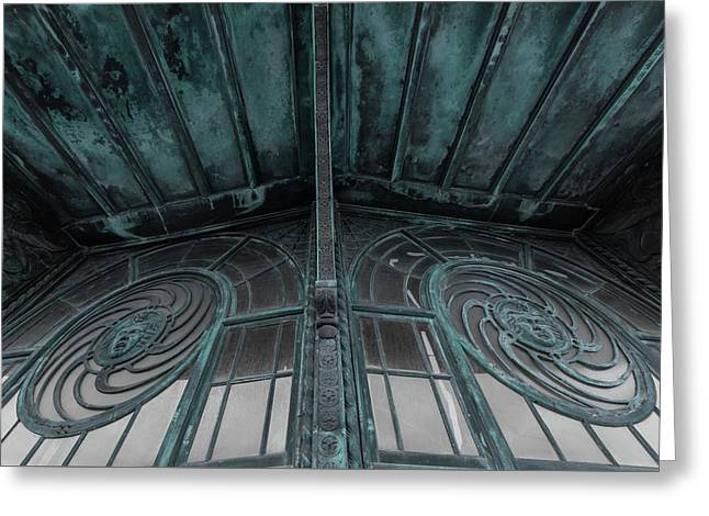Two Medusa Windows Carousel House Asbury Park New Jersey Greeting Card