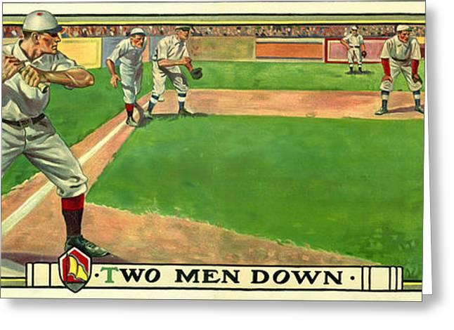 Two Men Down Greeting Card by Jon Neidert