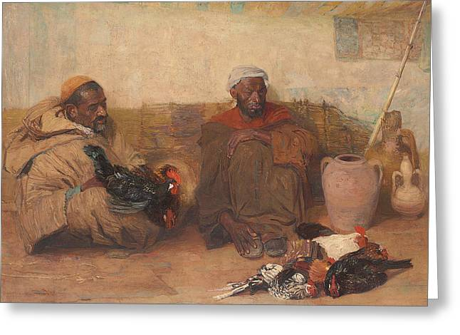 Two Men Of Tangiers, 1908  Greeting Card by Robert Lee MacCameron