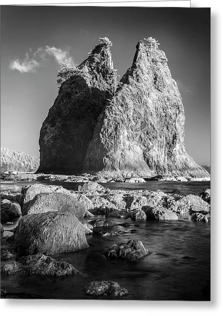 Two Monoliths Greeting Card by Jon Glaser