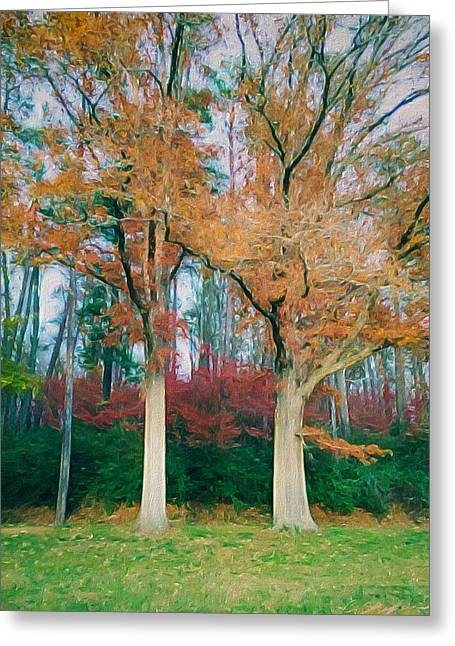 Two Oaks Greeting Card