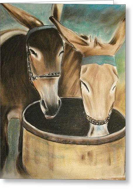 Two Of A Kind Greeting Card by Scott Easom