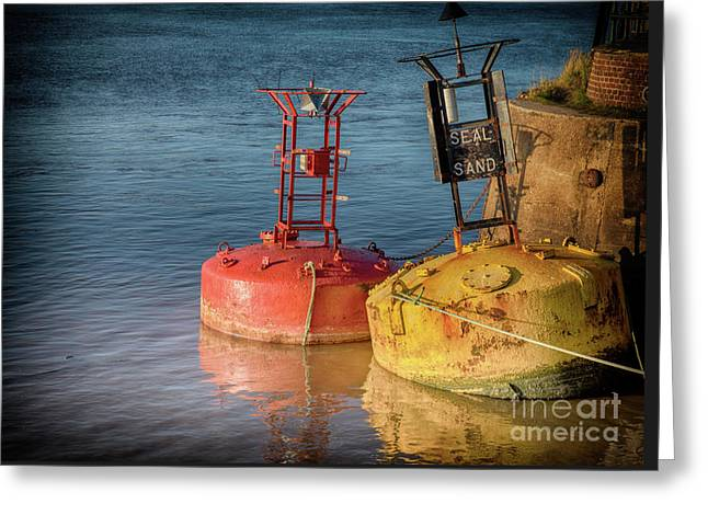 Two Old Sea Buoys Greeting Card