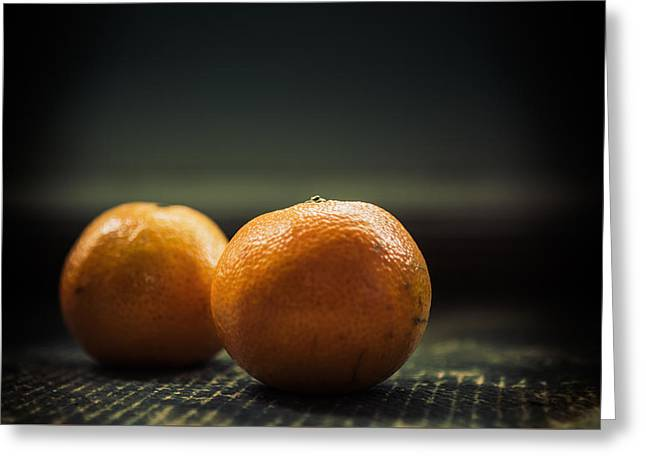 Two Oranges Greeting Card