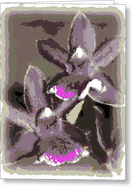 Two Orchids Greeting Card
