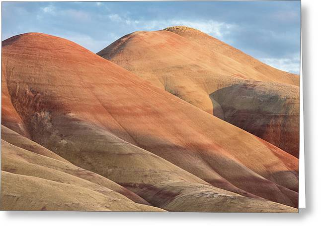 Two Painted Hills Greeting Card by Greg Nyquist