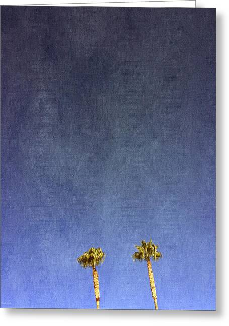 Two Palm Trees- Art By Linda Woods Greeting Card