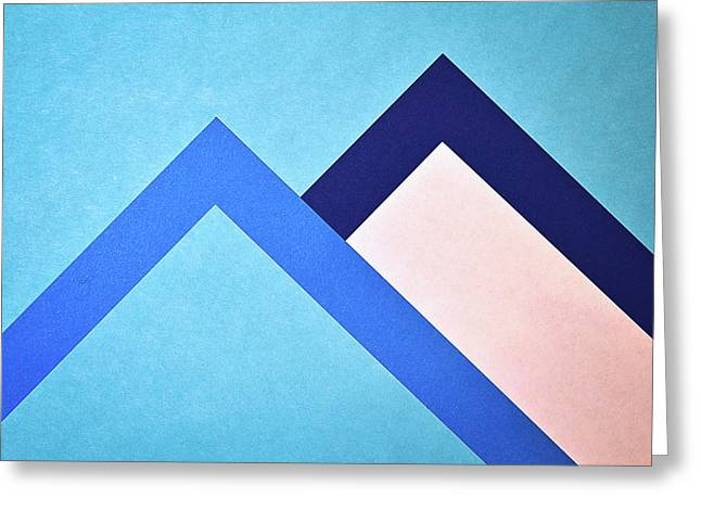 Two Papers Moutains Greeting Card by Jozef Jankola