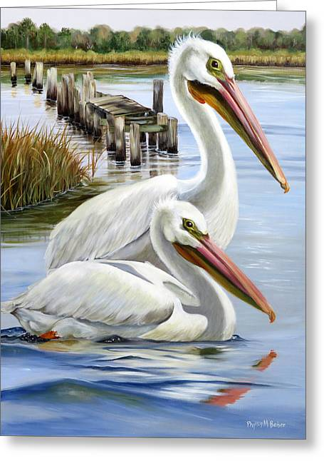 Two Part Harmony Greeting Card by Phyllis Beiser
